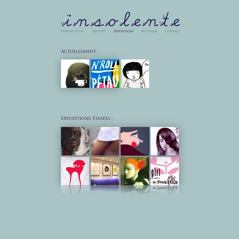 Insolente - Site Internet