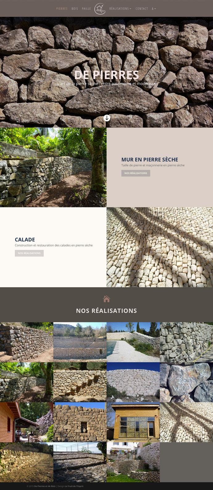 De Pierres et de Bois - Site Internet - Pierre