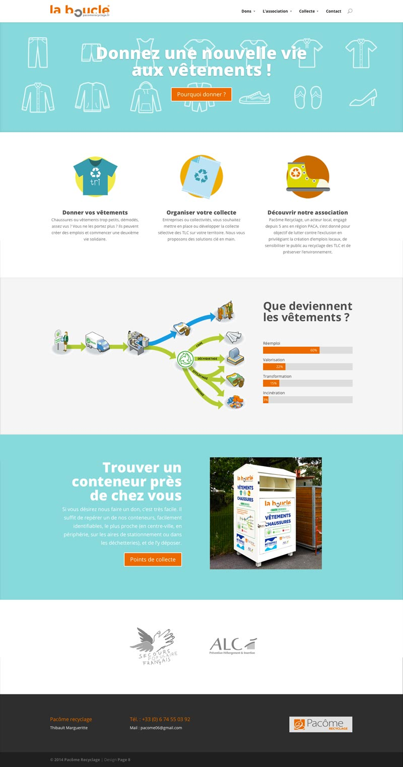 Pacôme Recyclage - Site Internet - Accueil