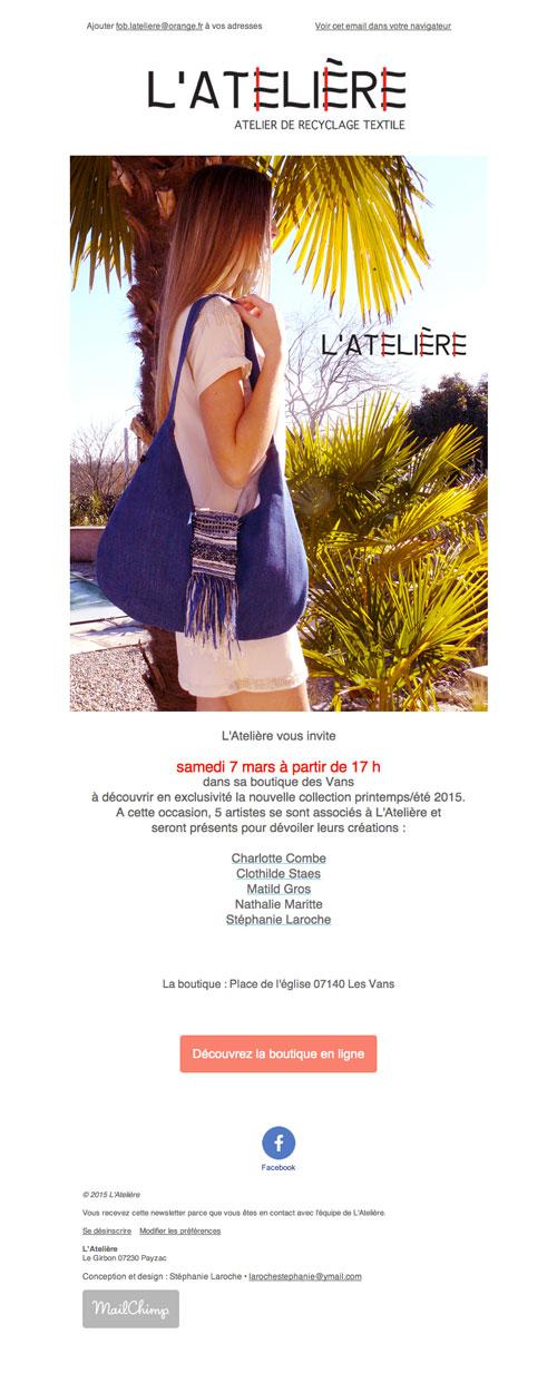 L'Atelière - Newsletter