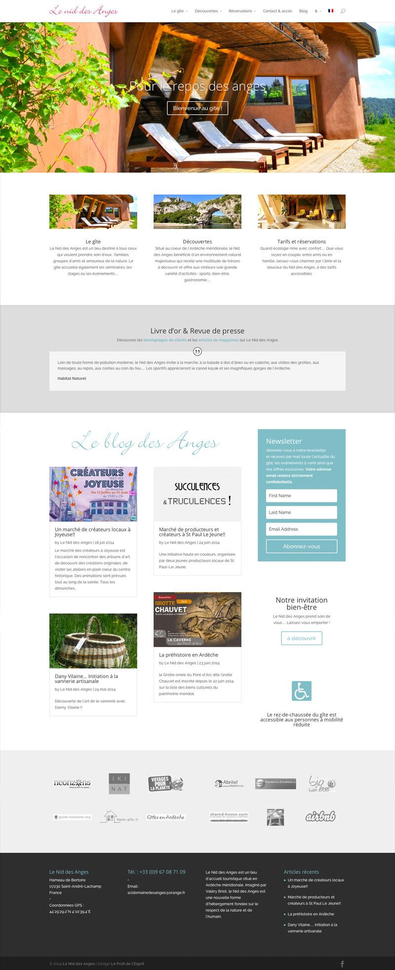 Le Nid des Anges - Site Internet - Accueil