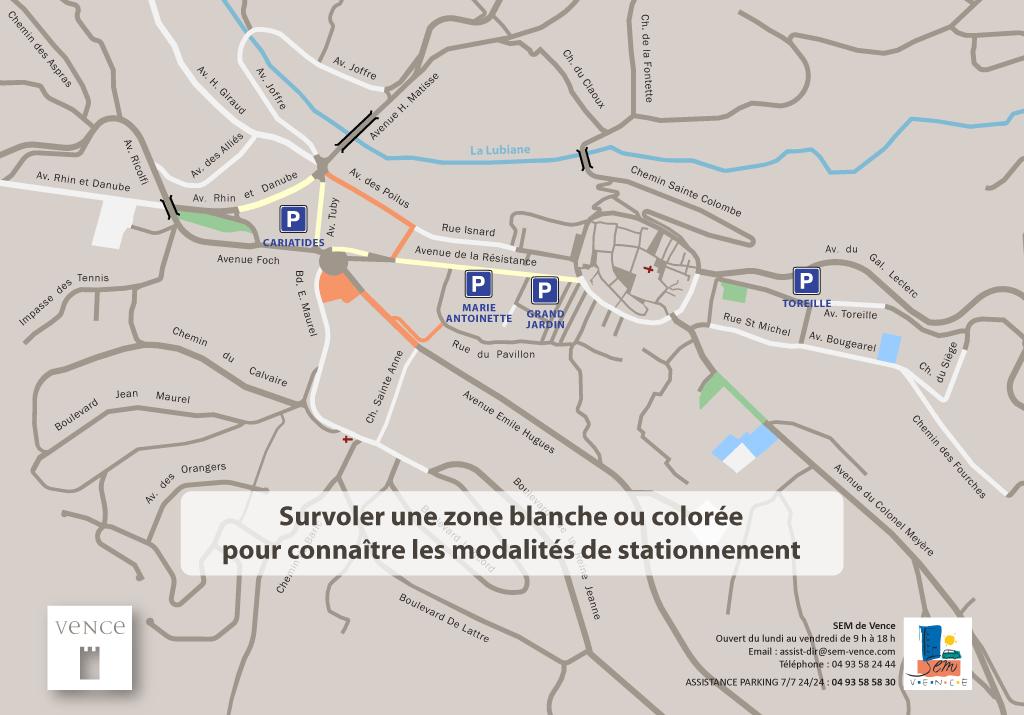 Mairie de Vence - Plan dynamique