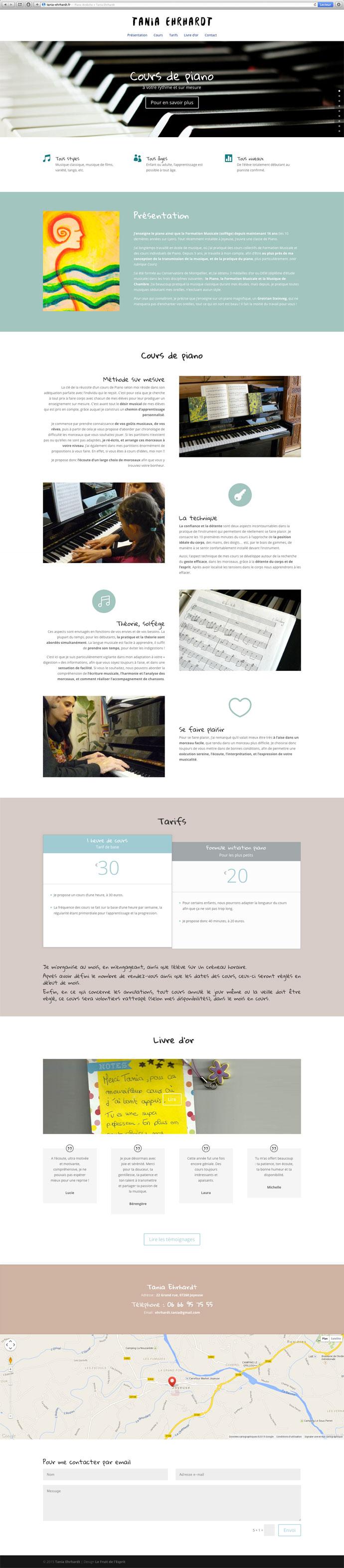 Tania Ehrhardt - Site Internet