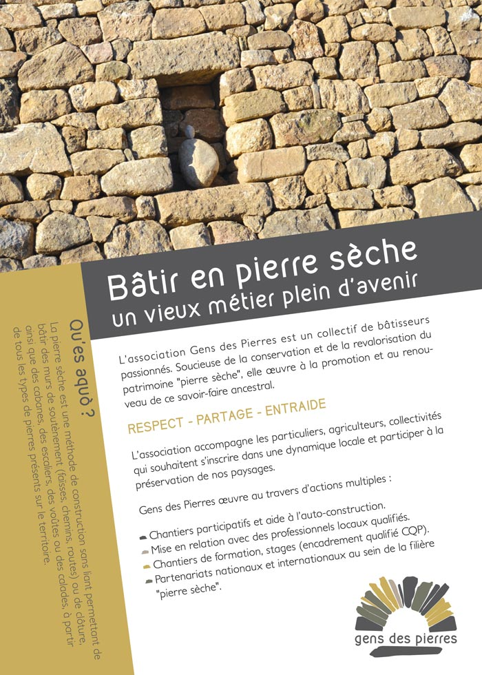 Gens des pierres - Flyer recto