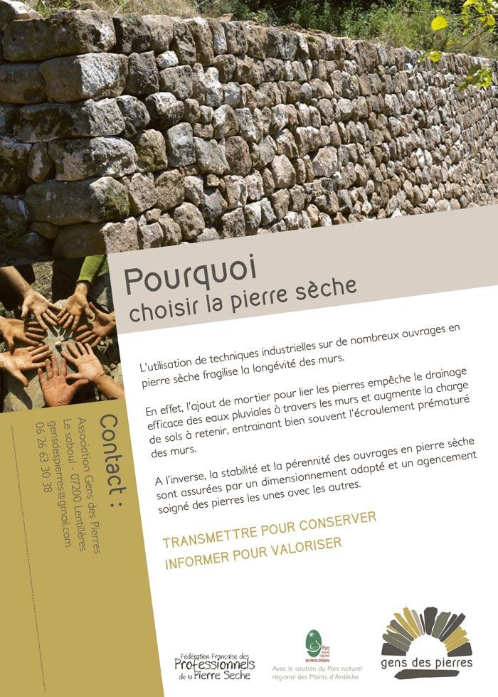 Gens des pierres - Flyer verso
