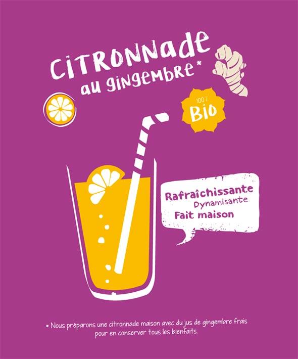 Kaba Nature - Création de visuels - Citronnade au gingembre