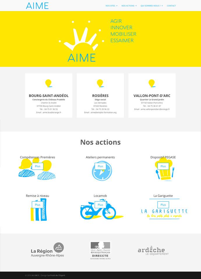 AIME - Site Internet - Accueil