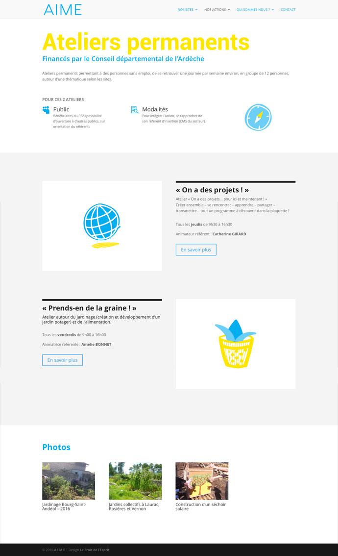 AIME - Site Internet - Ateliers permanents