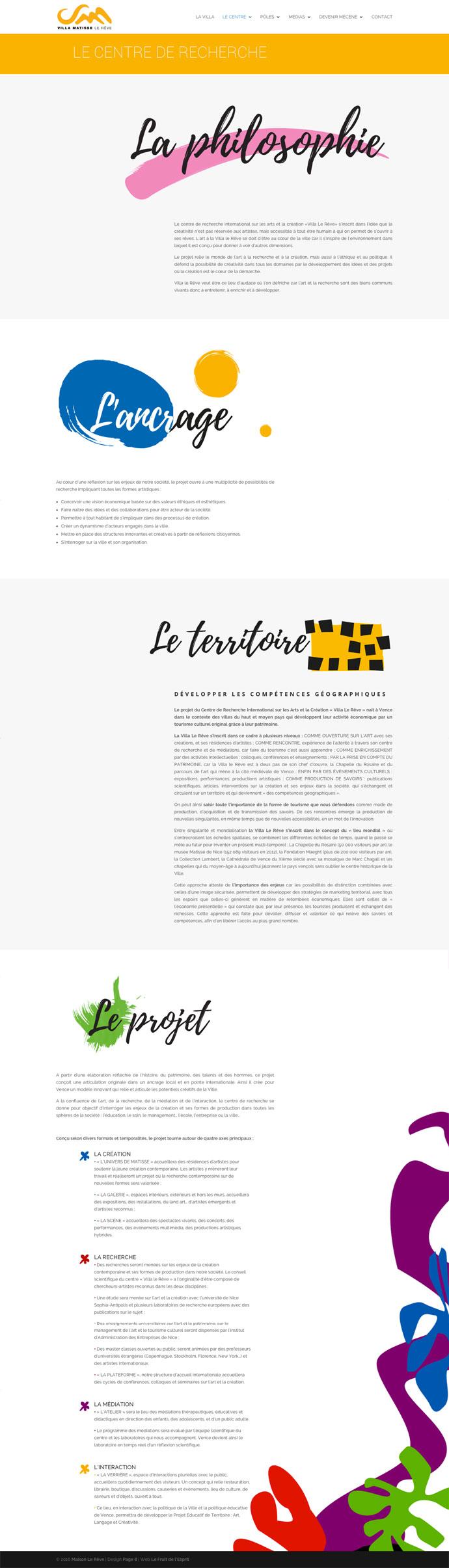 Villa Matisse - Site Internet - Centre de recherche