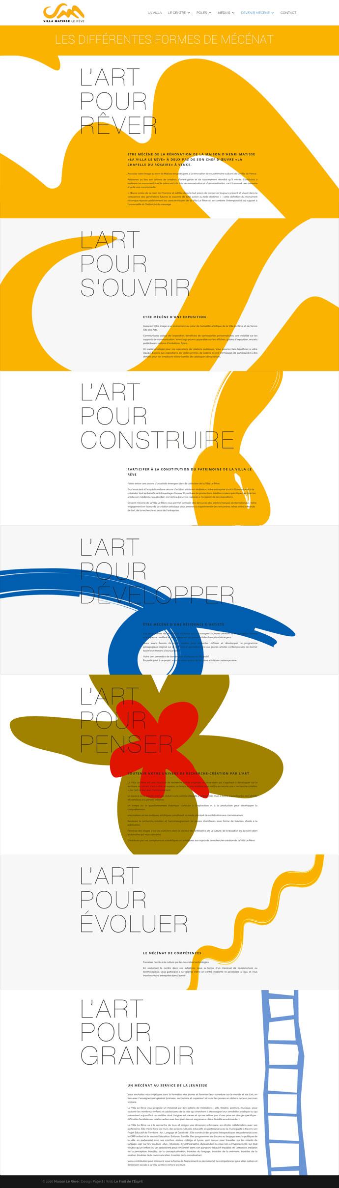 Villa Matisse - Site Internet - Mécénat