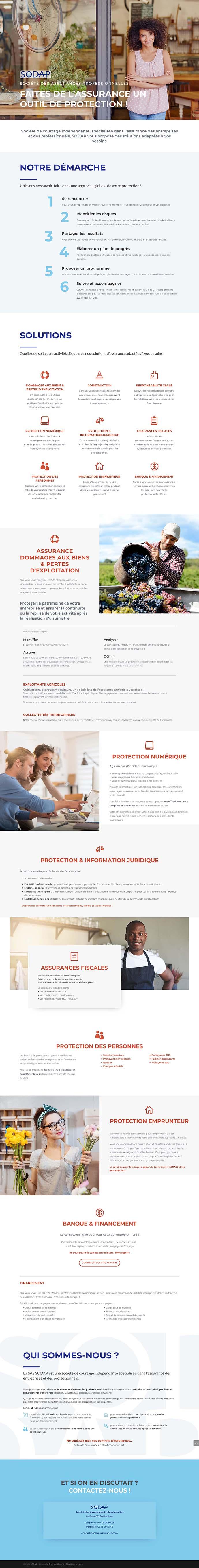 SODAP assurance - Société des Assurances Professionnelles - Site internet